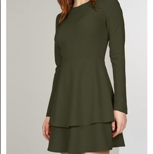 Hutch double layer fit and flare dress